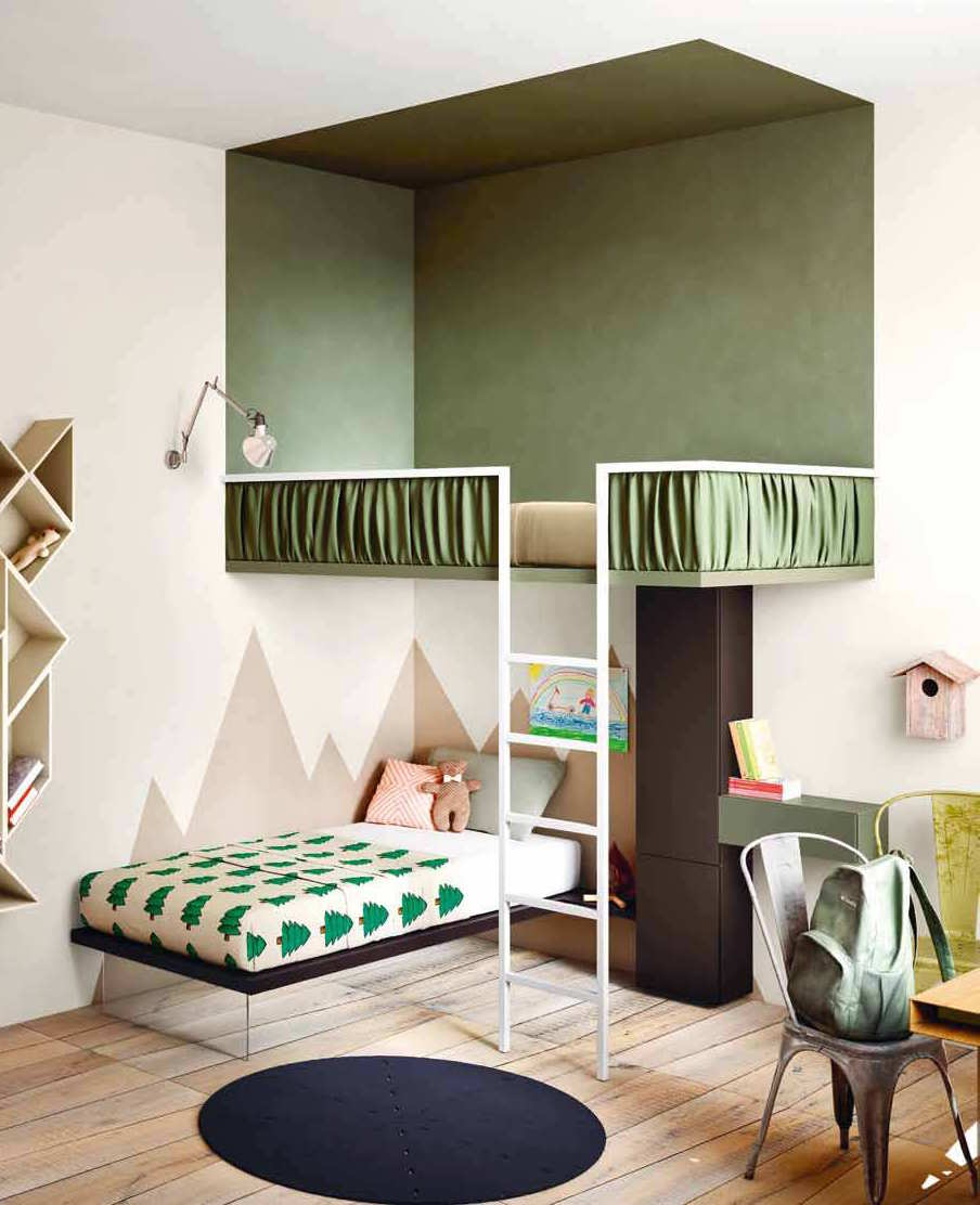 Loft beds mommo design for Futon kids room