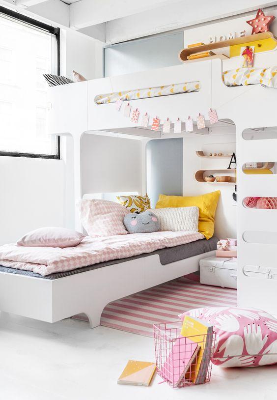 Loft beds mommo design for Children sharing bedroom ideas