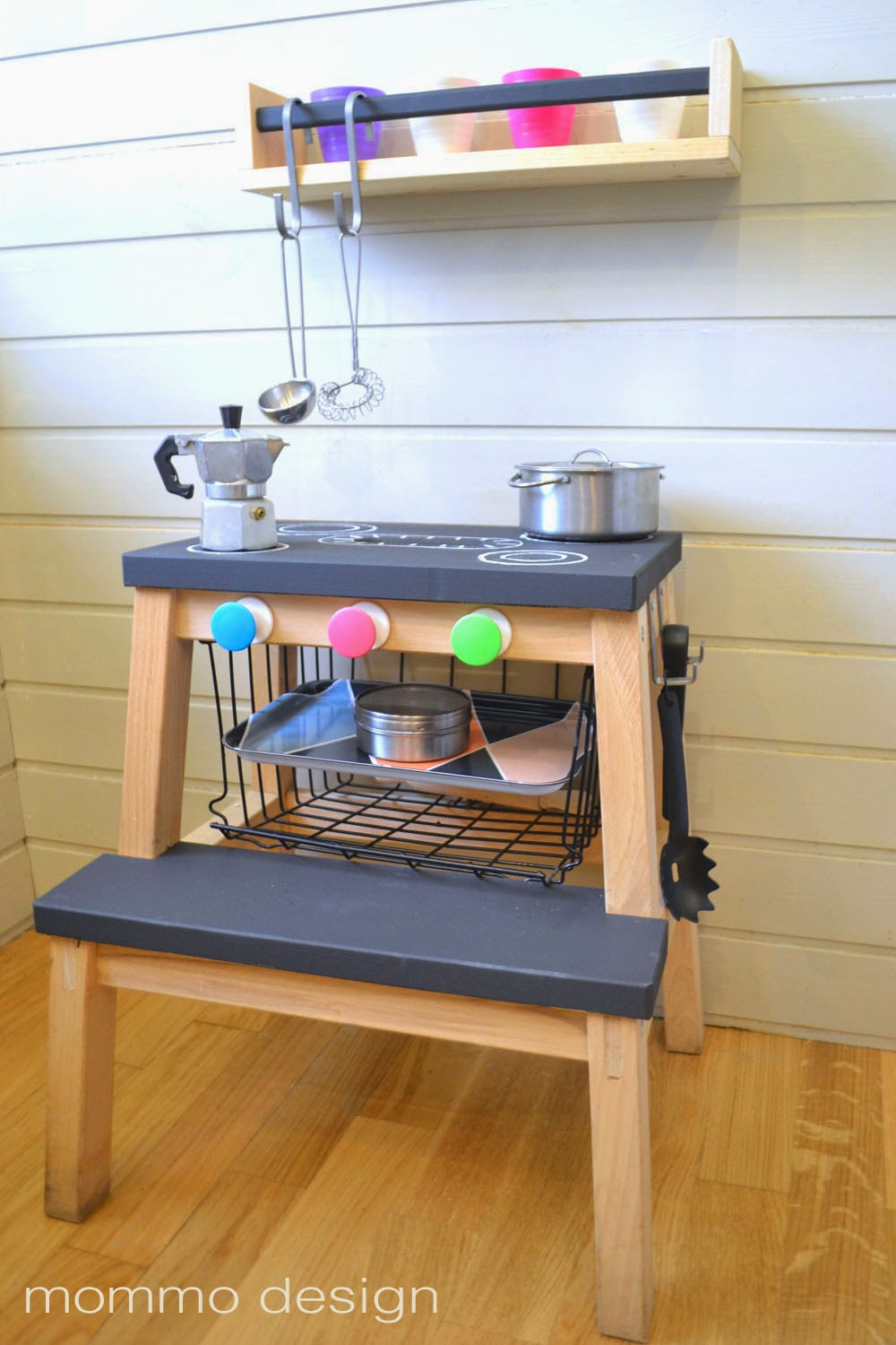 IKEA hacks Bekvam step stool play kitchen