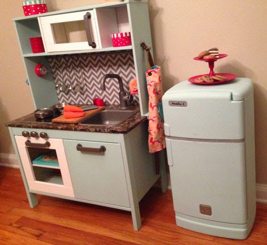 Ikea play kitchen makeovers mommo design - Ikea wooden kitchen playset ...