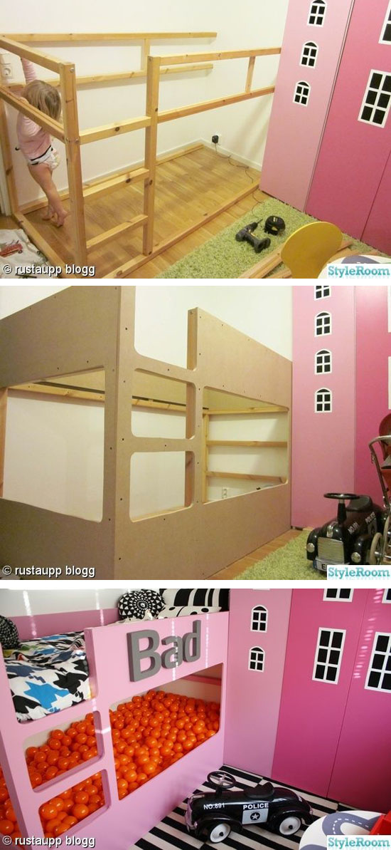 Kura bed makeover mommo design for Letto kura ikea