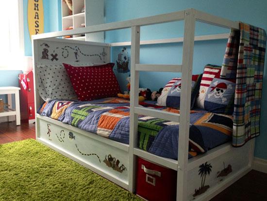 kura bed makeover mommo design. Black Bedroom Furniture Sets. Home Design Ideas