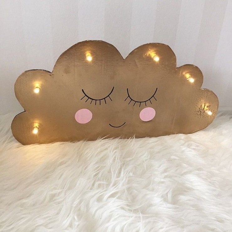 DIY cardboard cloud