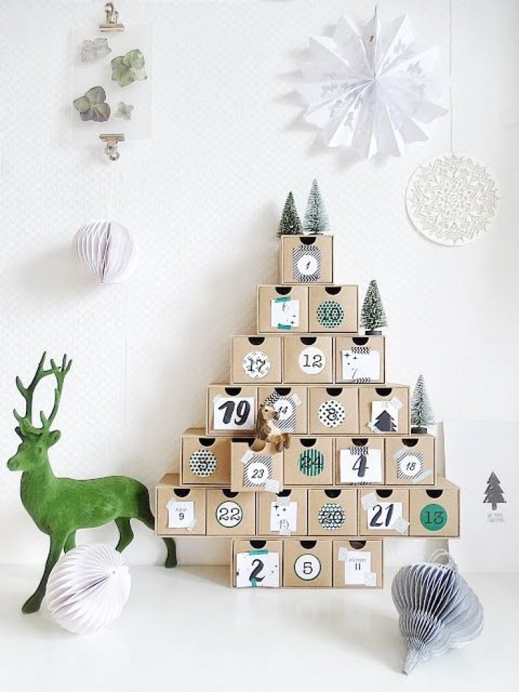 Typography Advent Calendar : Diy advent calendars mommo design