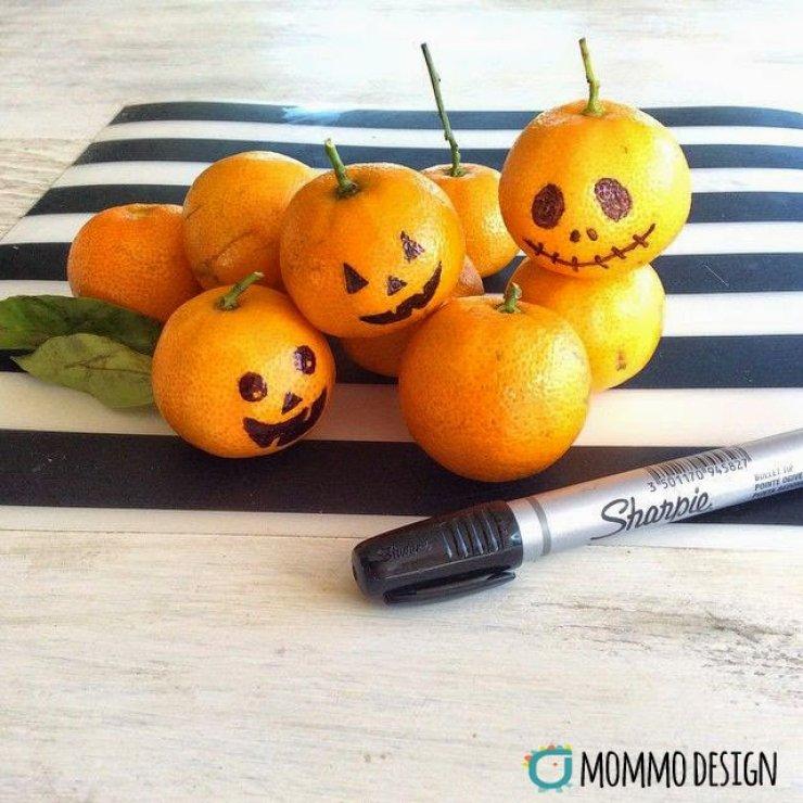 DIY clementine Jack-O lanterns