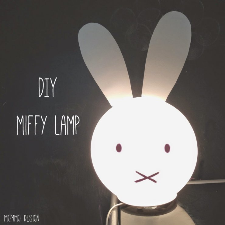 Diy Miffy lamp from Ikea Fado lamp