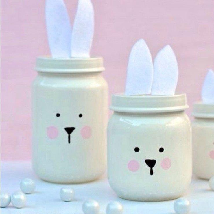 Easer bunny jars