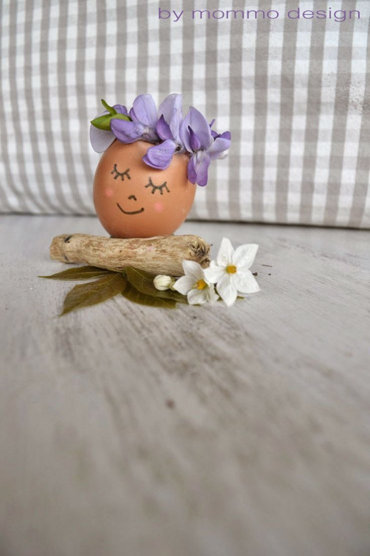 DIY flower crown Easter egg