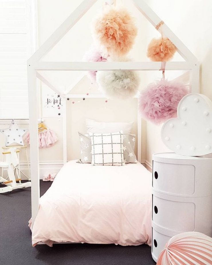 Adorable Full Kids Bedroom Set For Girl Playful Room Huz: Mommo Design