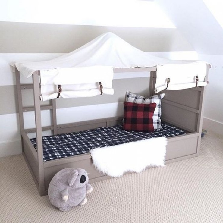 toddler bed ikea gonatt crib white ikea kidskid i also considered just getting another ikea. Black Bedroom Furniture Sets. Home Design Ideas