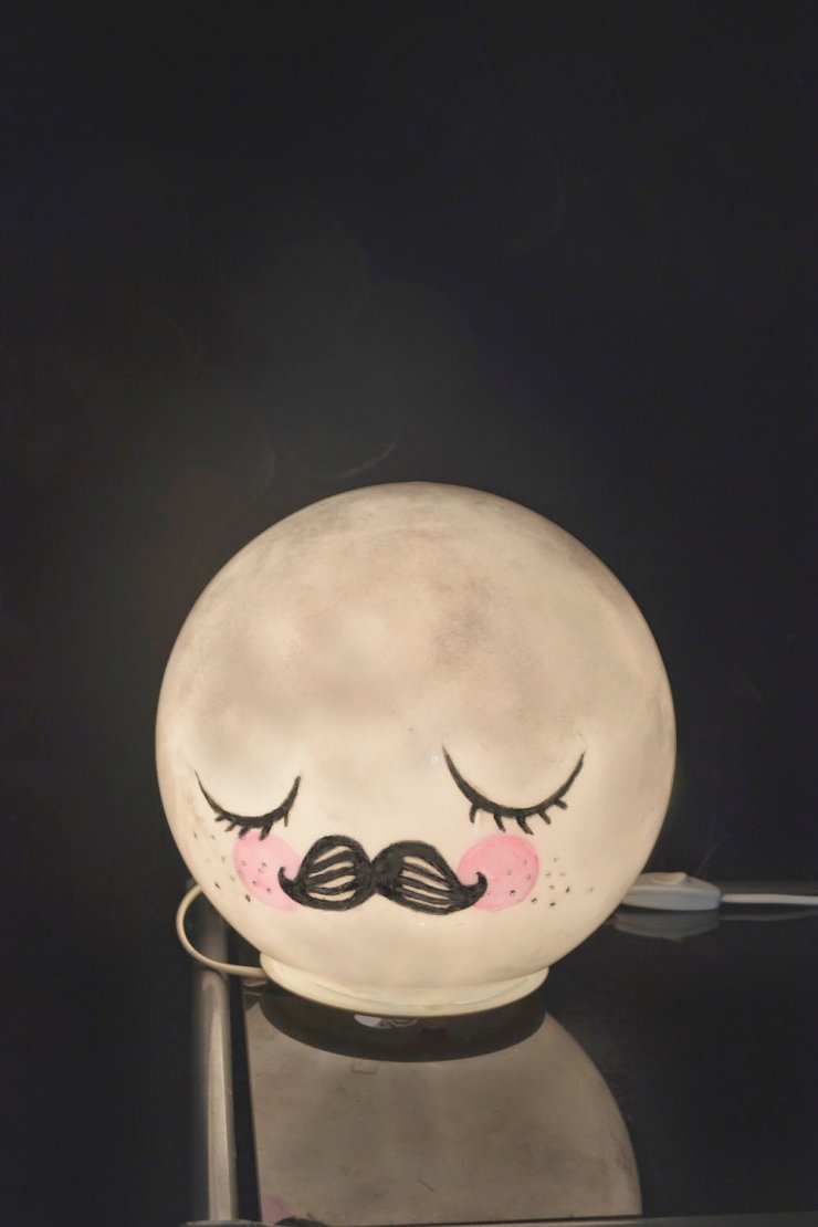 Ikea Fado lamp hacked in Mr. Moon