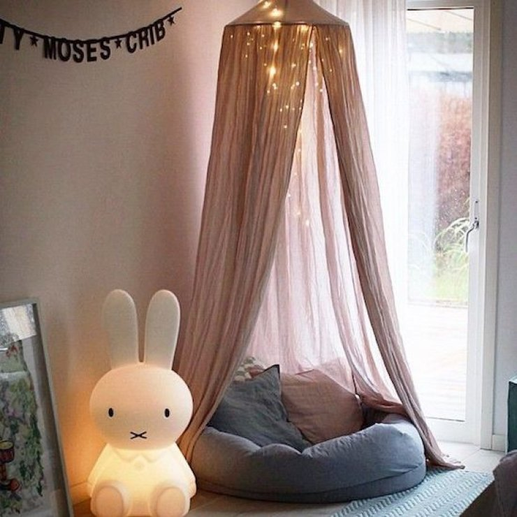 kid's reading corner with Miffy lamp