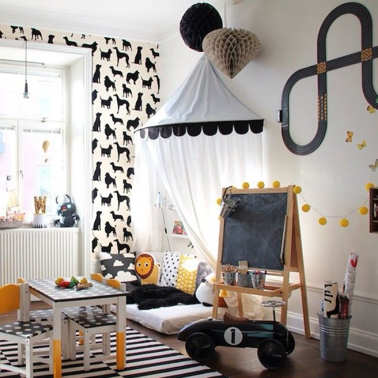 kids' reading nook with canopy