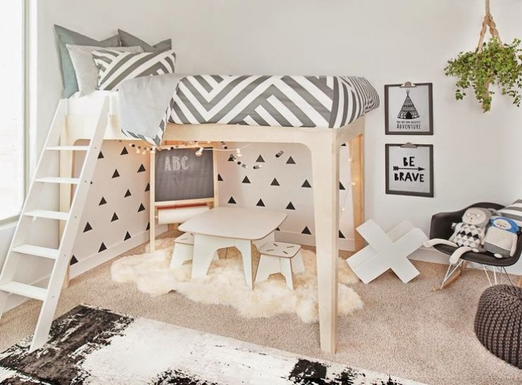 bed with beds chelsea white best loft vanity decoholic desk designs