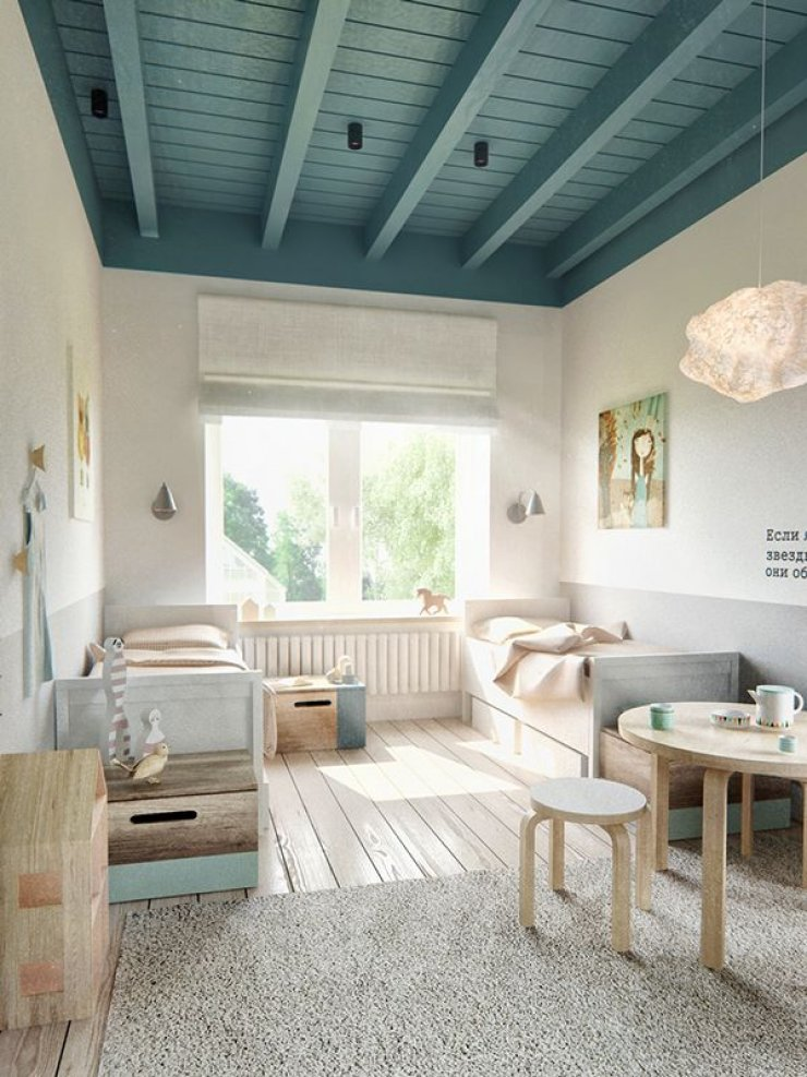 Simple soft and natural kid 39 s rooms mommo design for Dormitorio simple