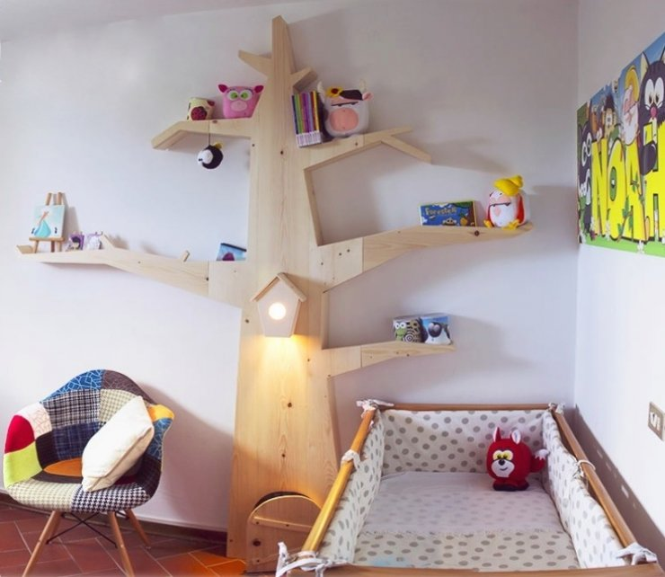 mommo design: TREES IN KID'S ROOM