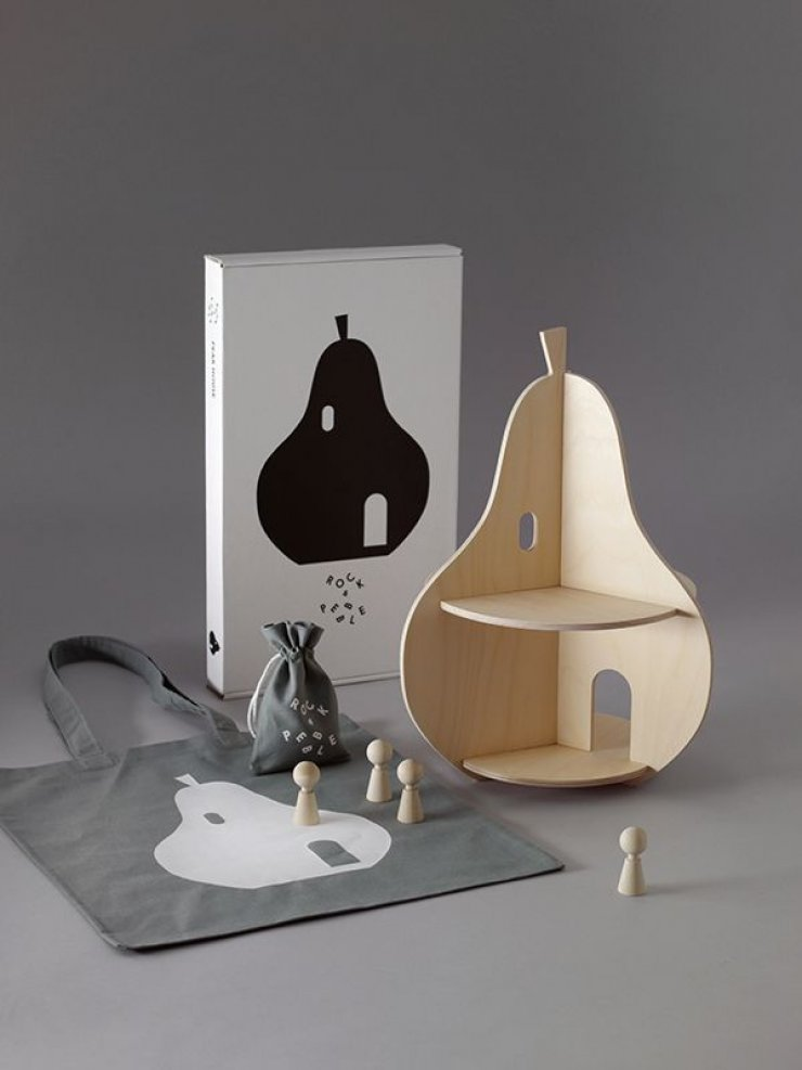 pear shaped wood dollhouse