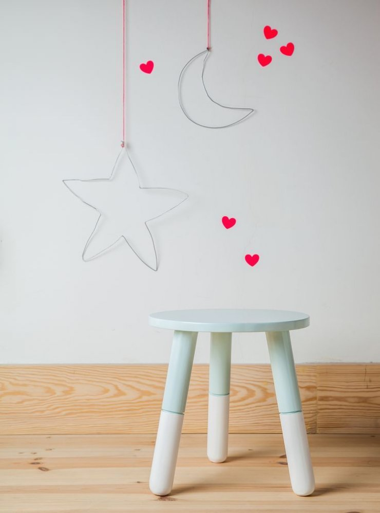 star and moon hanging wire decor for kids' room