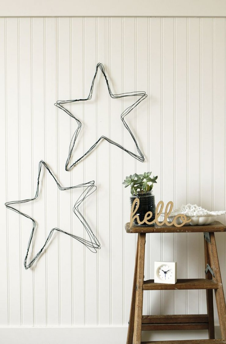 diy wire stars for christmas