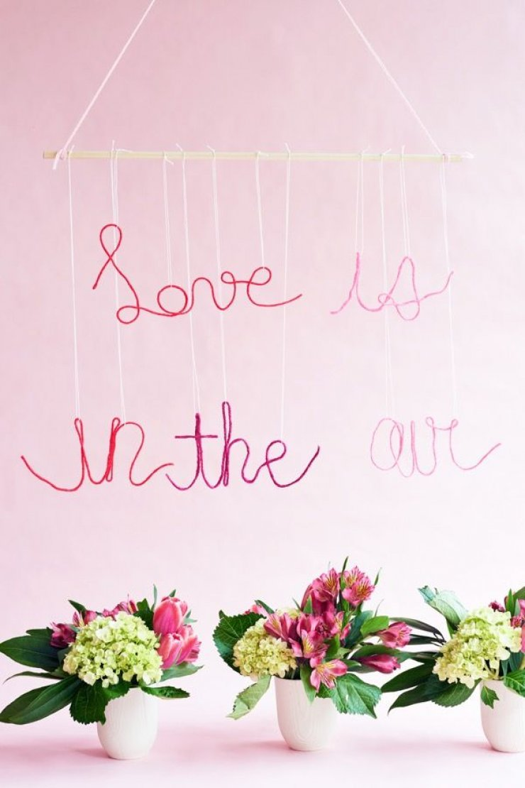 Strig words wall hanging decor