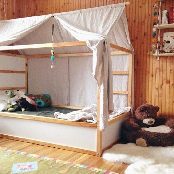 Ikea Kura bed with tent