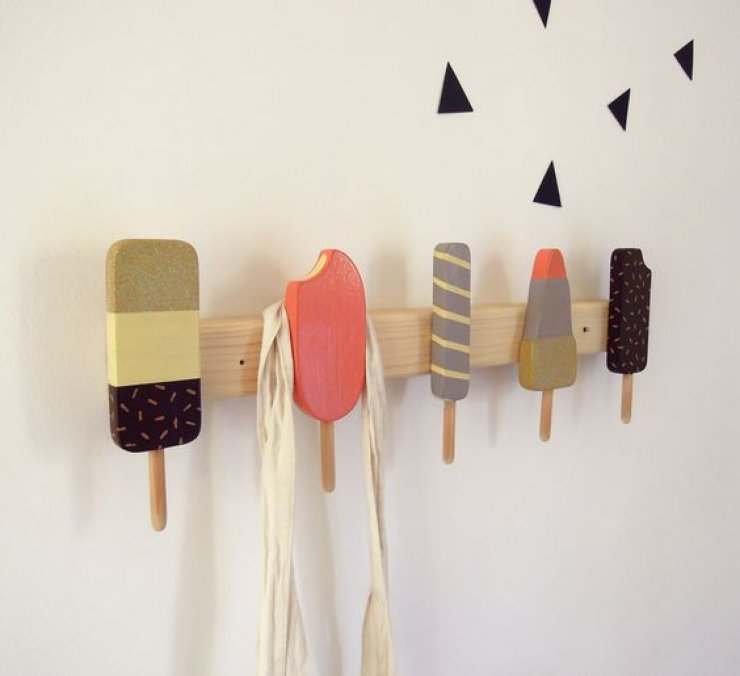 Ice cream decor mommo design - Comment fabriquer un porte manteau mural ...