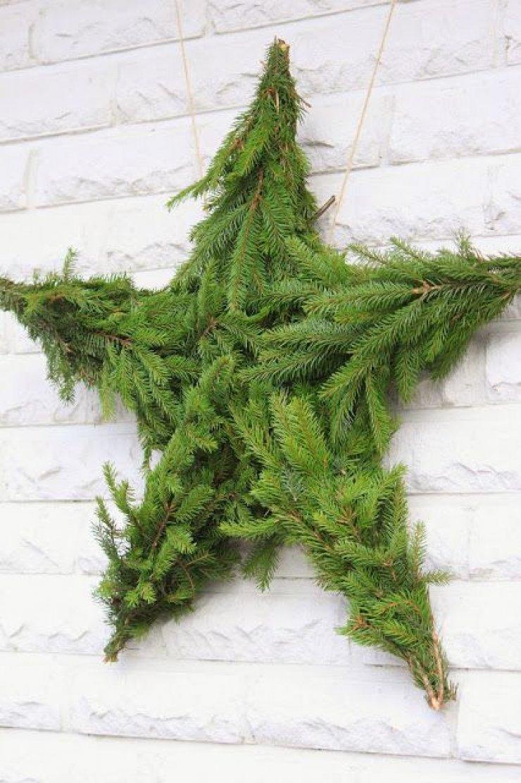 diy green christmas star