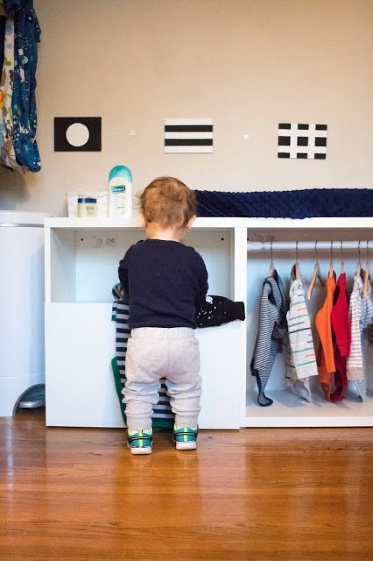 mommo design: MONTESSORI  DIY WARDROBES