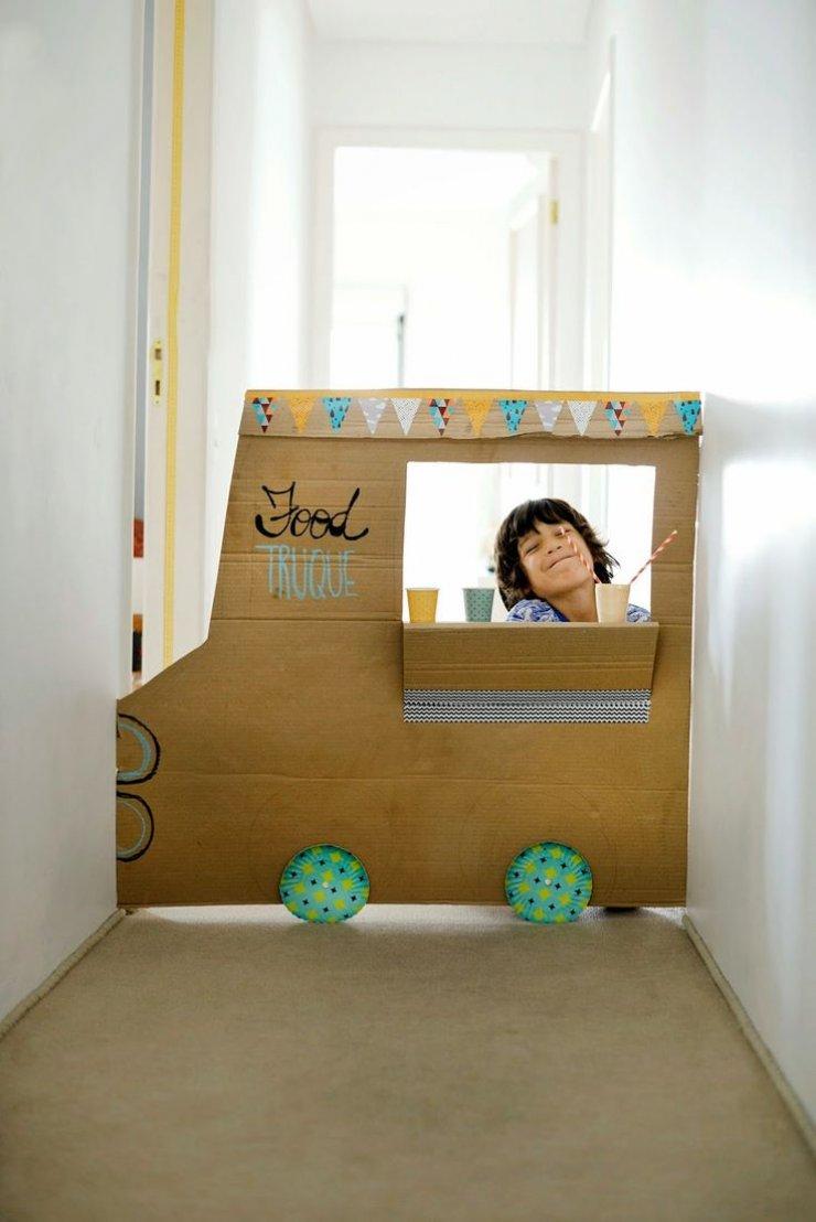 DIY cardboard food truck