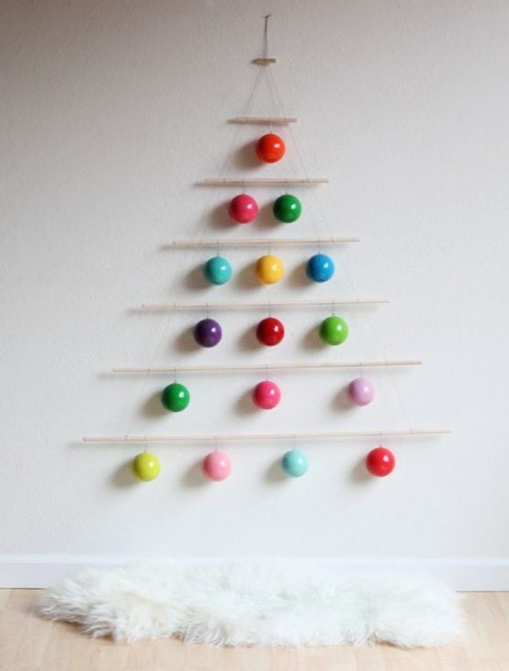 wall hanging ornaments christmas tree