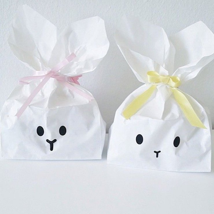 Easter bunny paper bags