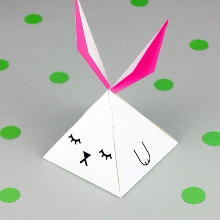 Easter bunny paper box