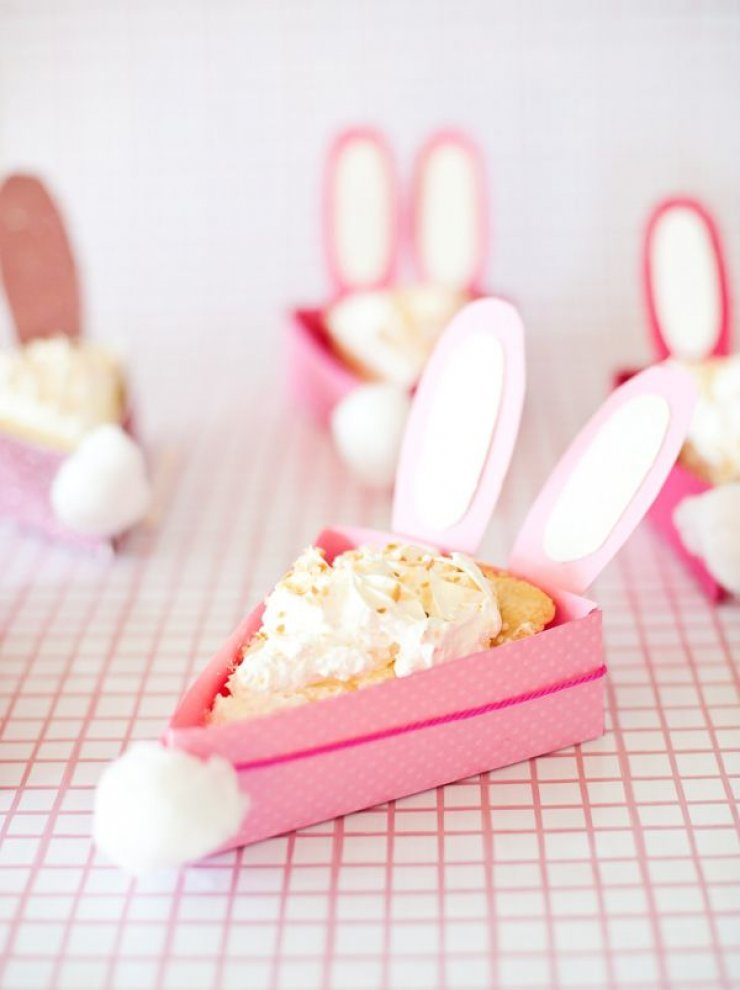 Easter bunny pie box
