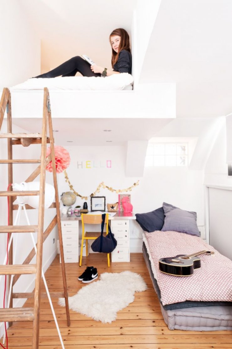 build in loft bed