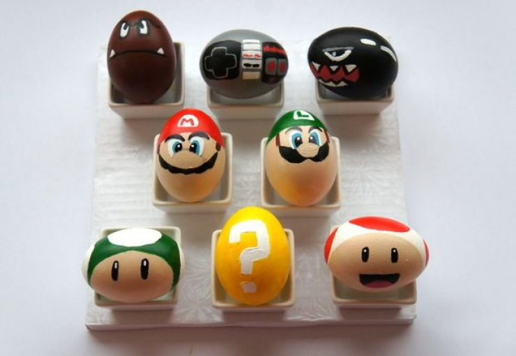 diy Super Mario Easter eggs
