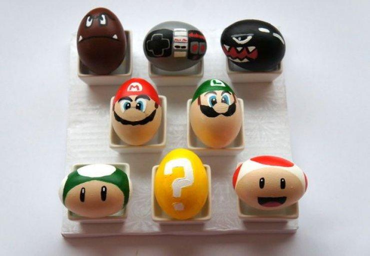diy Super Mario Easter eggs