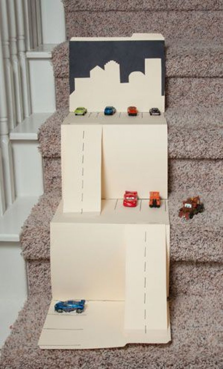 DIY cardboard car mat