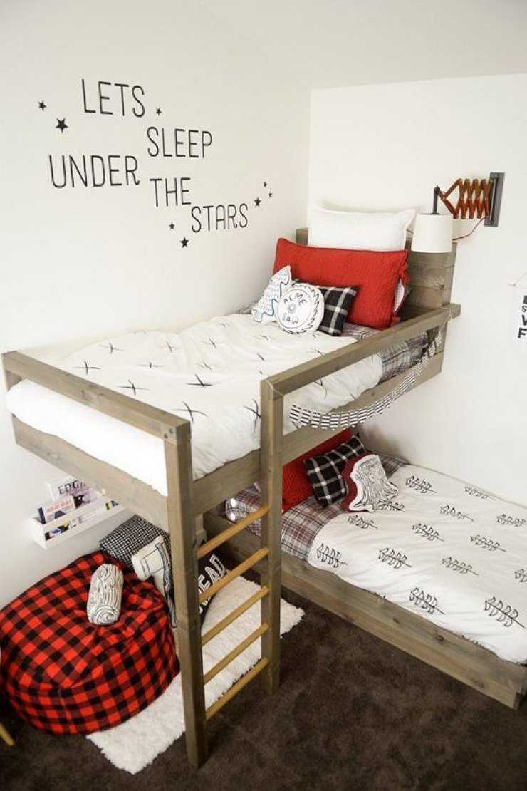 bunk bed and reading nook