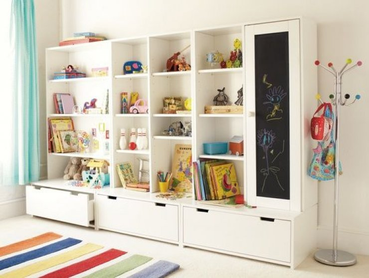 Wall Shelving Ideas For Small Spaces: Mommo Design