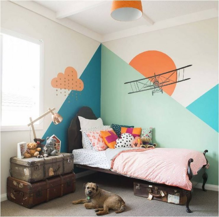 Kids Room Wall Design: Mommo Design