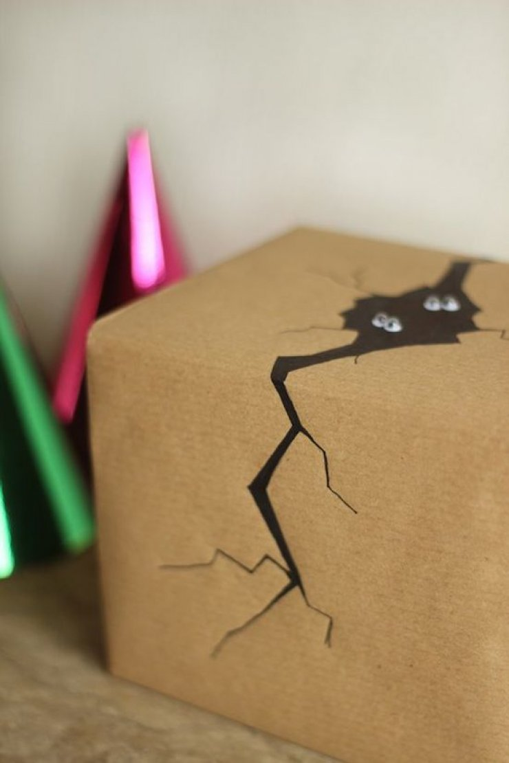 DIY MONSTER HIDE-OUT WRAPPING PAPER