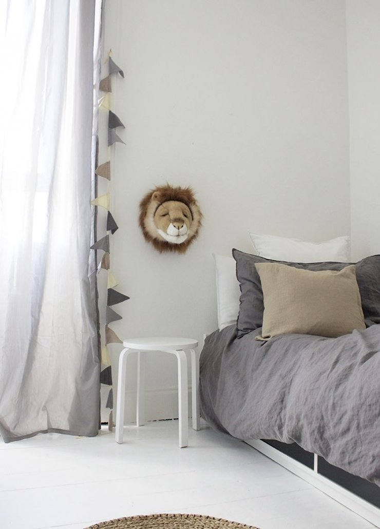 mommo design: GREY IN KIDS' ROOM