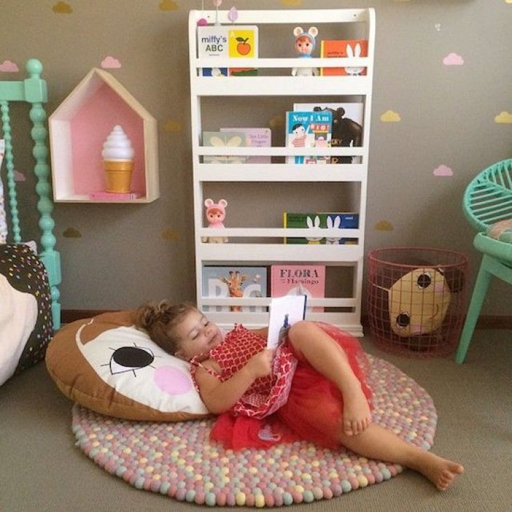 girly reading corner