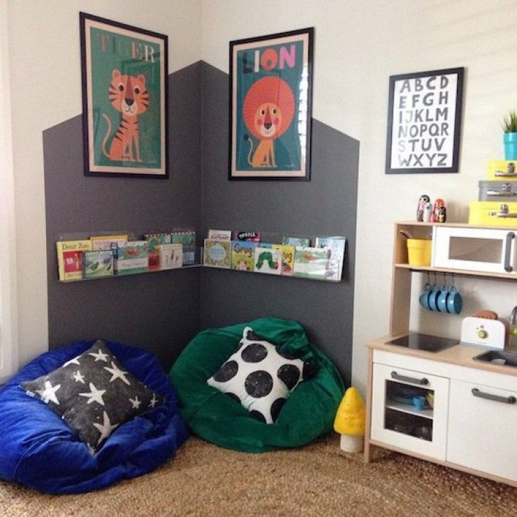 Painted House Reading Corner For Kids