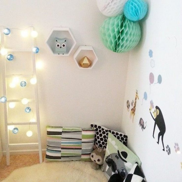 reading corner for kids with ladder and lights