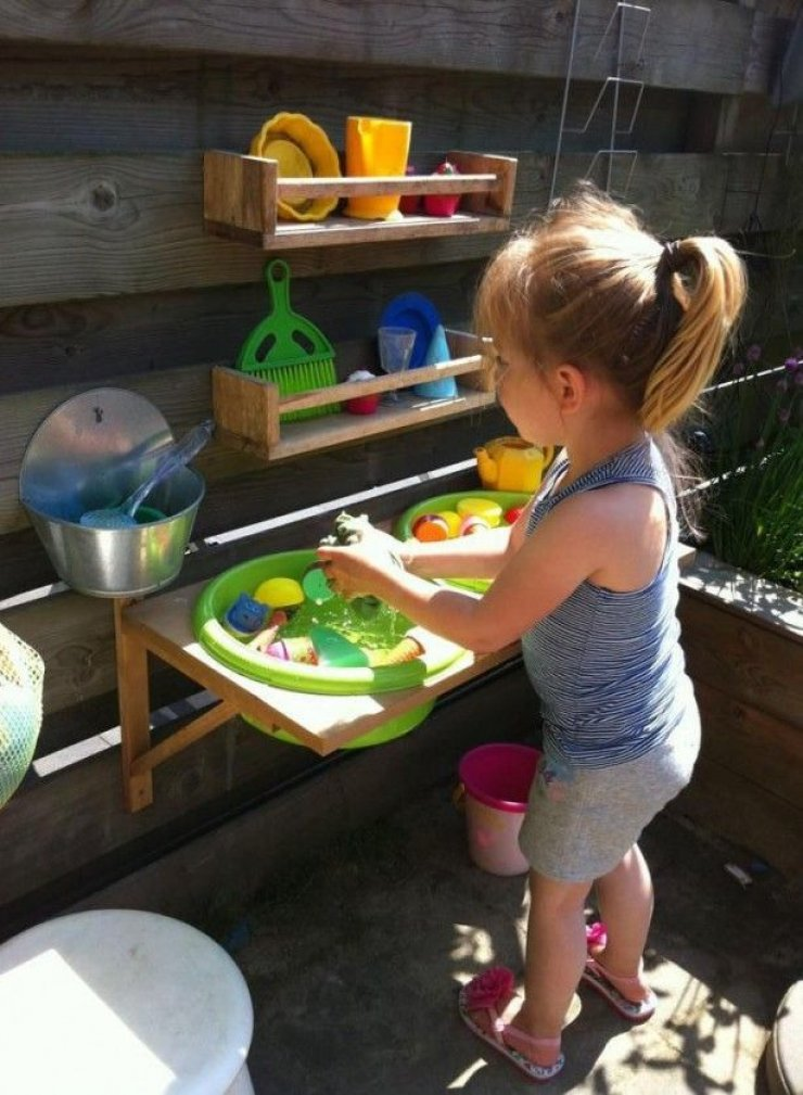 Diy outdoor Ikea mud kitchen