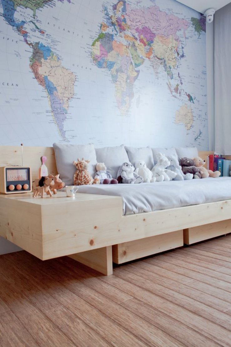 BOYS ROOMS Mommo Design - Boys room with maps