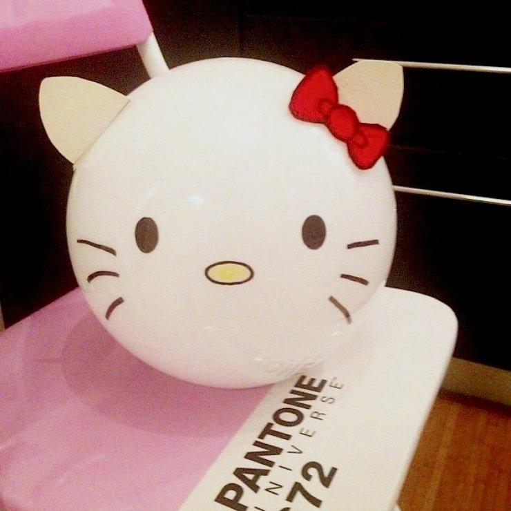 Ikea Fado lamp hacked into Hello Kitty