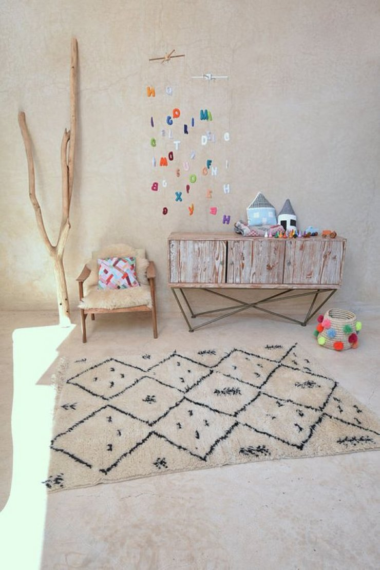 Beni Ourain In Kid S Room Mommo Design