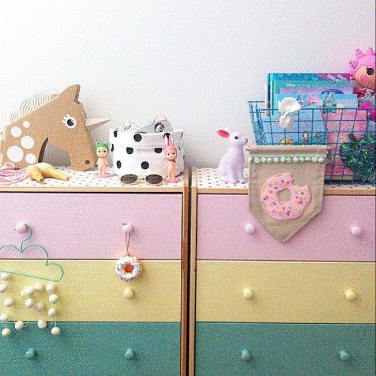 Painted Ikea Rast dresser